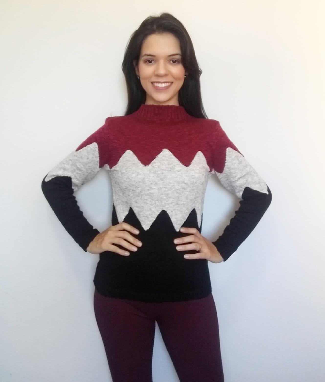 Suéter em tricô Amanda