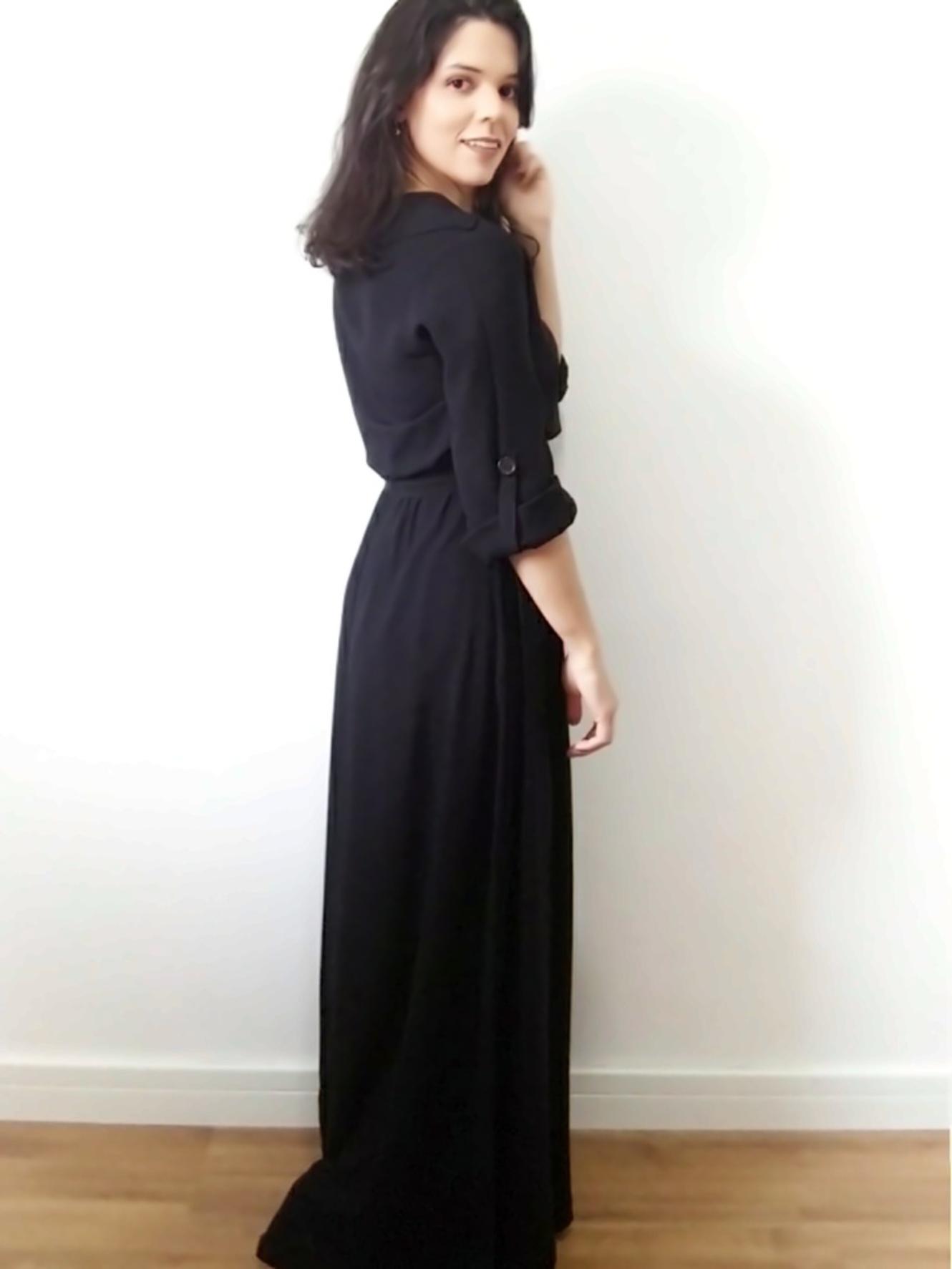 Vestido chemise longo