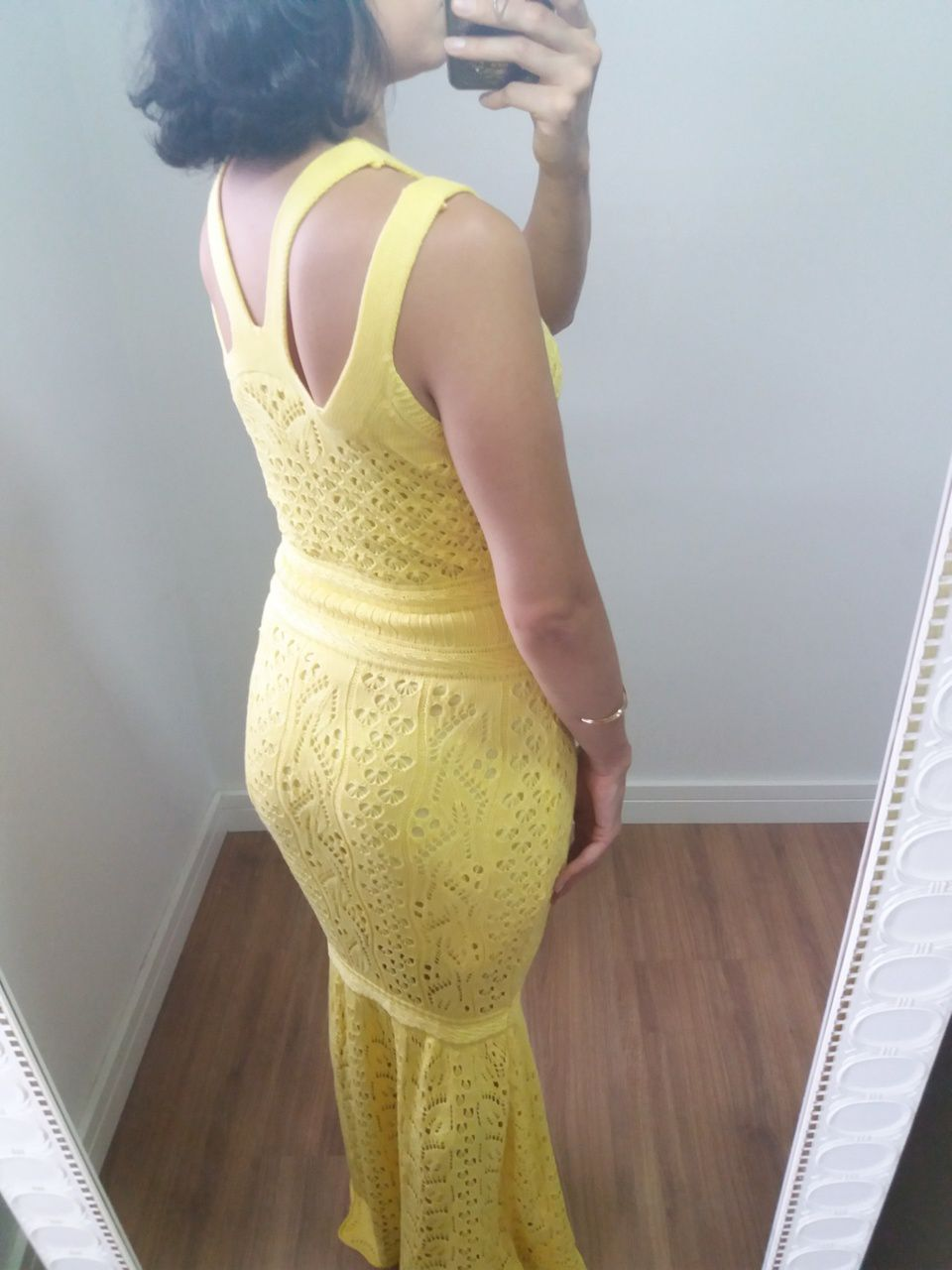 Vestido longo modelo sereia