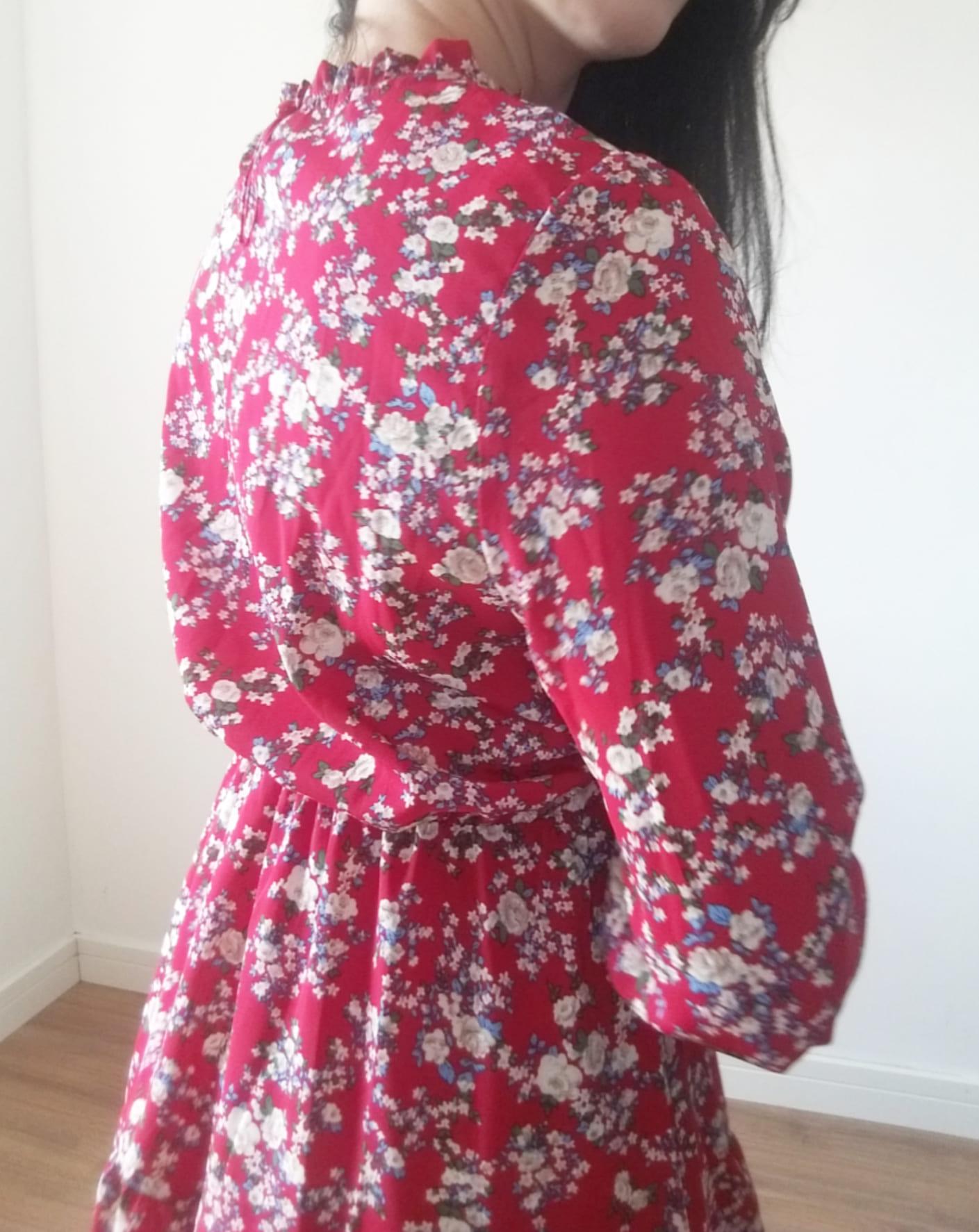 Vestido rosa branca