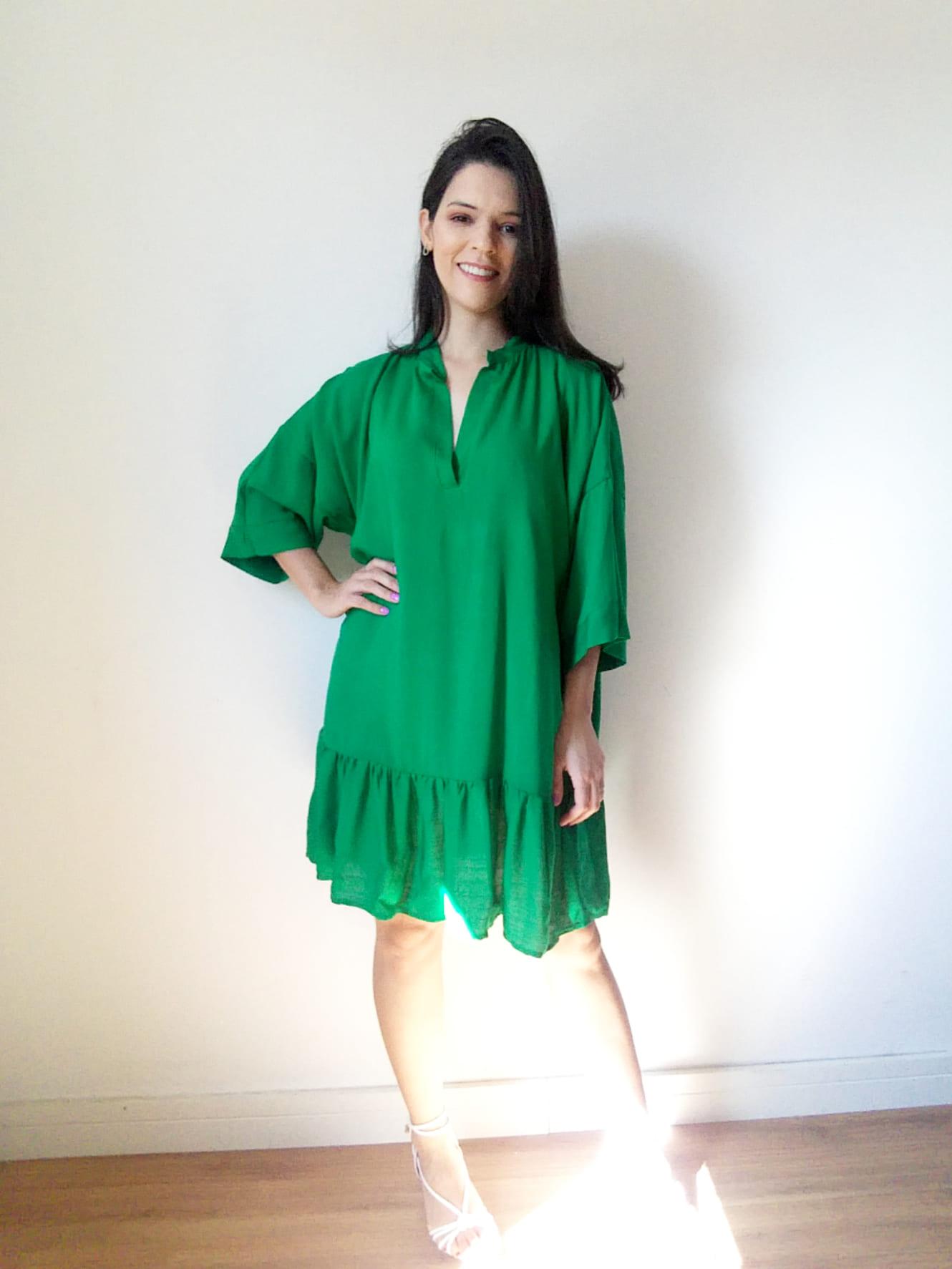 Vestido verde veste até 46