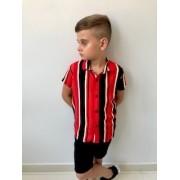 Blusão Vermelho Listrado Infantil