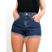 Short Mom Premium Jeans bainha Desfiada