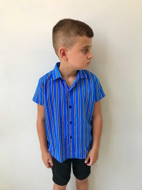 Blusão Azul Listrado Infantil