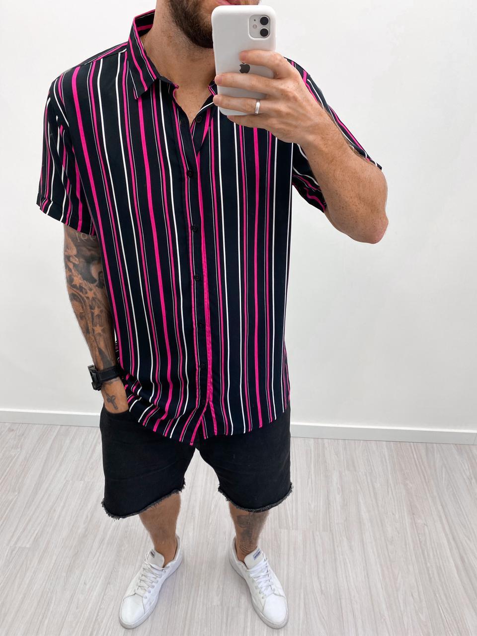 Blusão Listra Pink