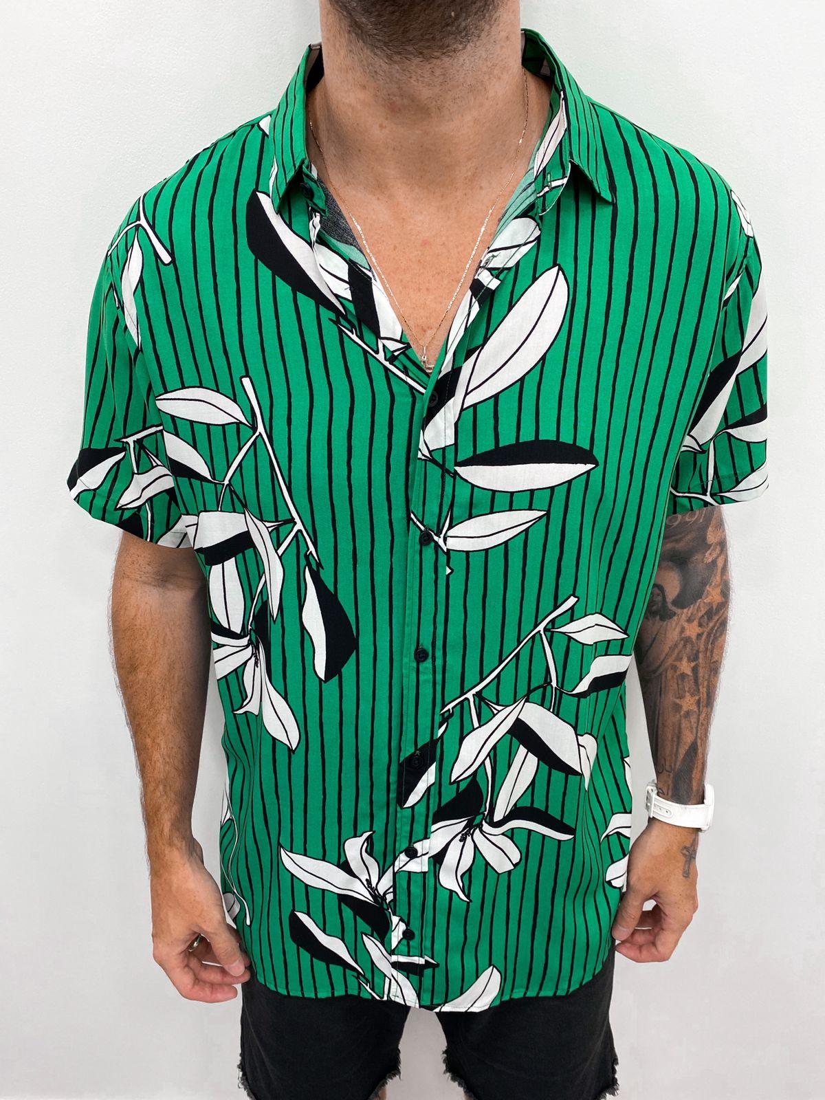 Blusão Striped Green