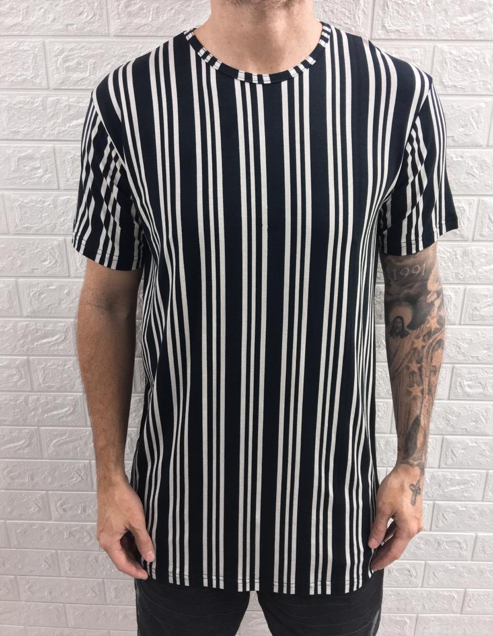Camisa Long Listrada