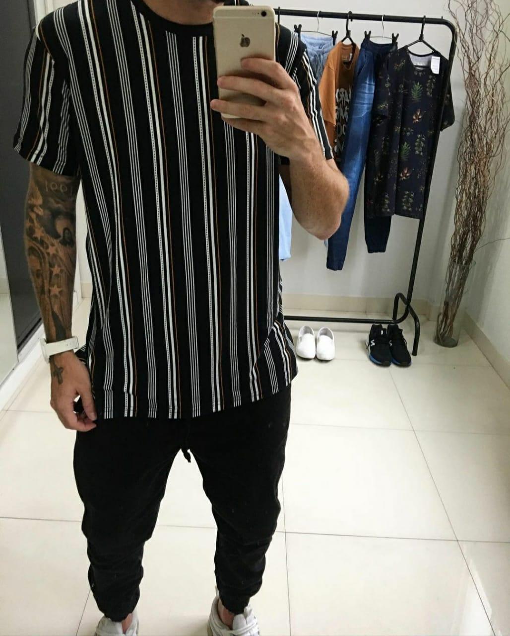 Camisa Long Listras