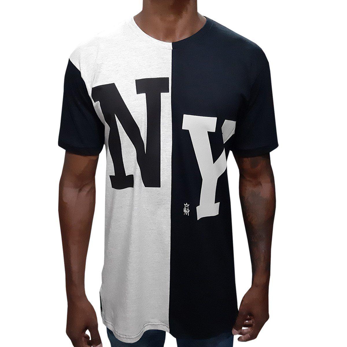 Camisa Long NY Meio a Meio