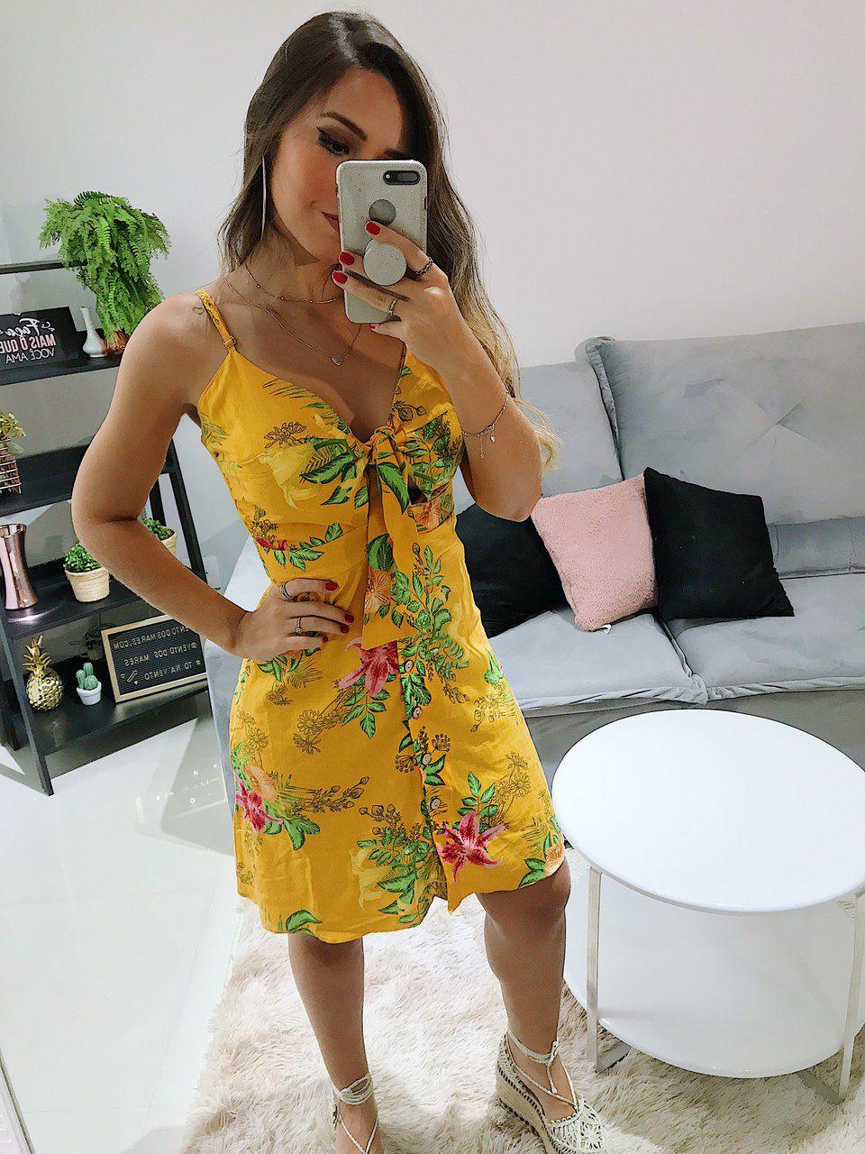 Vestido Flora Amarração