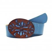 Cinto Teodora's Fivela em Couro Azul
