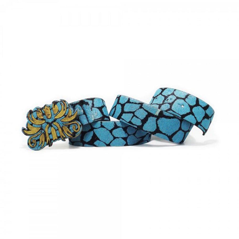Cinto Teodora's Charlotte Couro C207 Azul