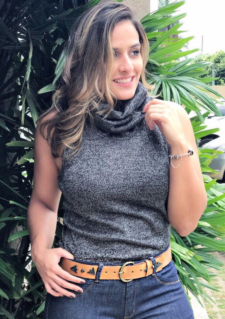 Cinto Teodora's Nicole C6176 Couro Bege