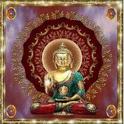 Mandala Buda 2 Em Veludo + Presente