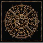 Mandala Cigana Em Veludo - Preta E Dourado + Presente