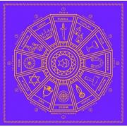 Mandala Cigana Em Veludo - Roxo E Dourado + Presente