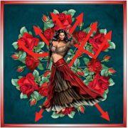 Mandala Da Pomba Gira Em Veludo + Um Presente Lindíssimo