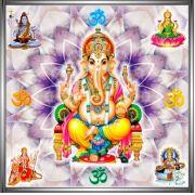 Mandala Ganesha Em Veludo + Um Presente Lindíssimo