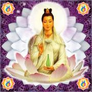 Mandala Kuan Yin Em Veludo Fundo Roxo + Presente