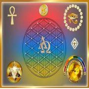 Mandala Mesa Alfa Omega Em Veludo + Presente