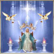 Mandala Mestra Mãe Maria Em Veludo + Presente