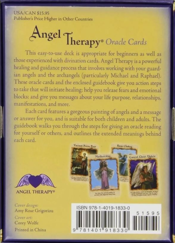 Angel Therapy Oracle Cards:44-card -doreen Virtue + Presente