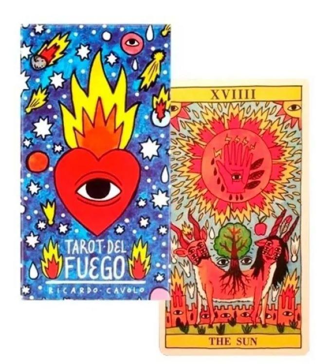Baralho Fournier Tarot Del Fuego By Ricardo Cavolo+ Presente
