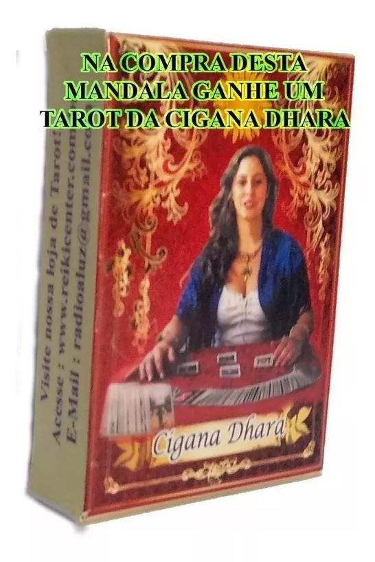 Mandala Cigana P/ Jogar Tarot Em Veludo Vermelha + Presente