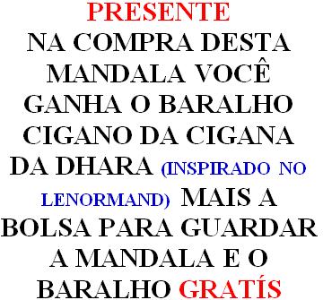 Mandala Ciganas Em Veludo + Presente