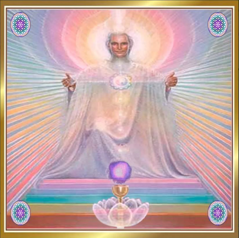 Mandala Mestre Melquizedek Em Veludo + Presente