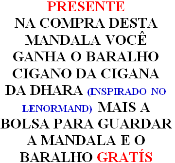 Mandala Sananda Em Veludo + Presente