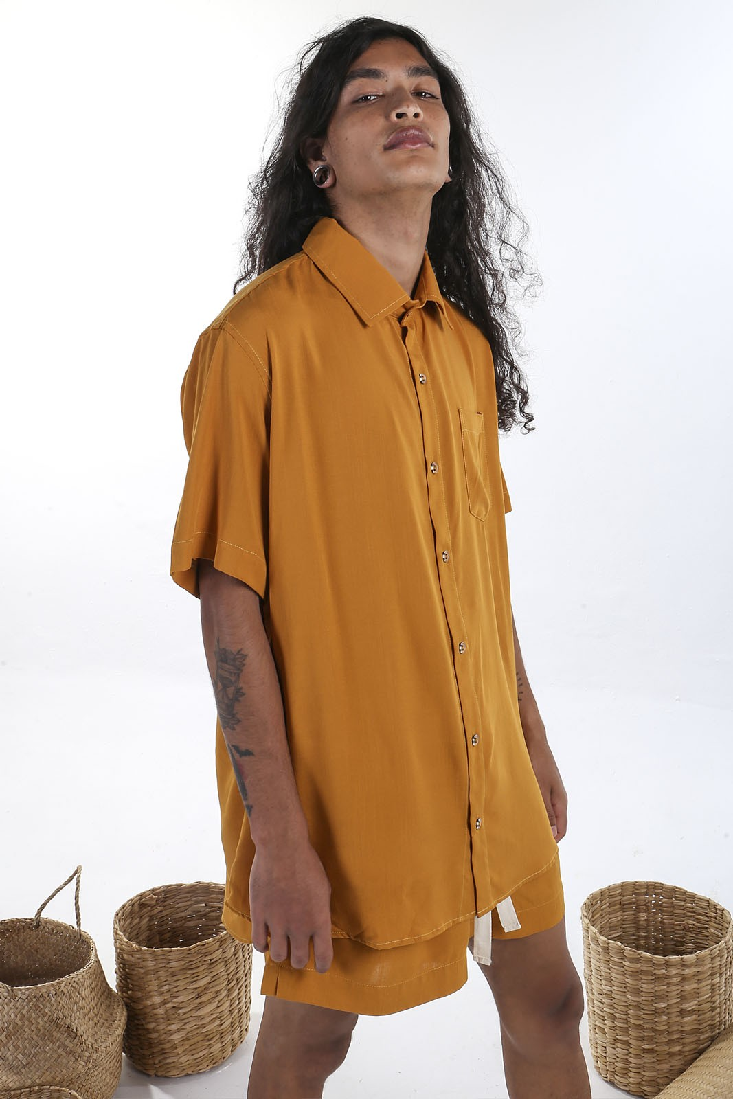 Camisa Mostarda