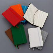 Caderneta tipo moleskine personalizado (MINIMO 30 PEÇAS)