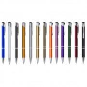 Caneta metal inteira colorida personalizada (MINIMO 50 PEÇAS)