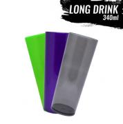 Copo long drink translúcido ou leitosa personalizado em um lado (MINIMO DE 30 PEÇAS)