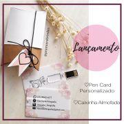 Kit pen card + Caixinha almofada personalizados (MINIMO 10 PEÇAS)