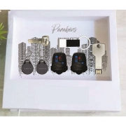 Kit pen drive chave + Caixinha com 7 elásticos personalizada (MINIMO 5 PEÇAS)