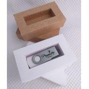 Kit pen drive + caixinha kraft ou offset personalizados (MINIMO 5 PEÇAS)