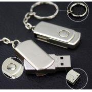 Mini pen drive chaveiro giratório personalizado (MINIMO 10 PEÇAS)