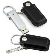 Pen drive de couro de bolsinha com metal personalizado (MINIMO 10 PEÇAS)