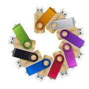 Pen drive giratório de madeira personalizado (MINIMO 5 PEÇAS)