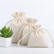 Saquinho de algodão cru personalizada (MINIMO 10 PEÇAS) VÁLIDO ATÉ 20/04/21