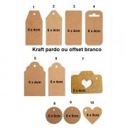 Tag decorativa com cordinha personalizada (MINIMO DE 30 PEÇAS)