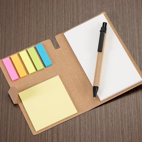 Bloco de anotações com autoadesivos personalizado (MINIMO 30 PEÇAS)  - Premiere Brindes
