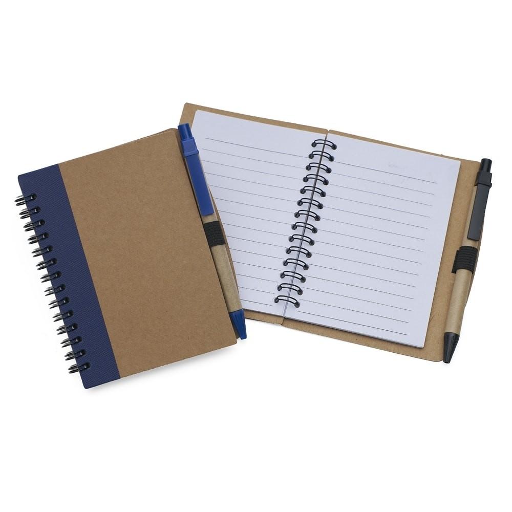 Bloco de anotações com caneta personalizado (MINIMO 30 PEÇAS)  - Premiere Brindes
