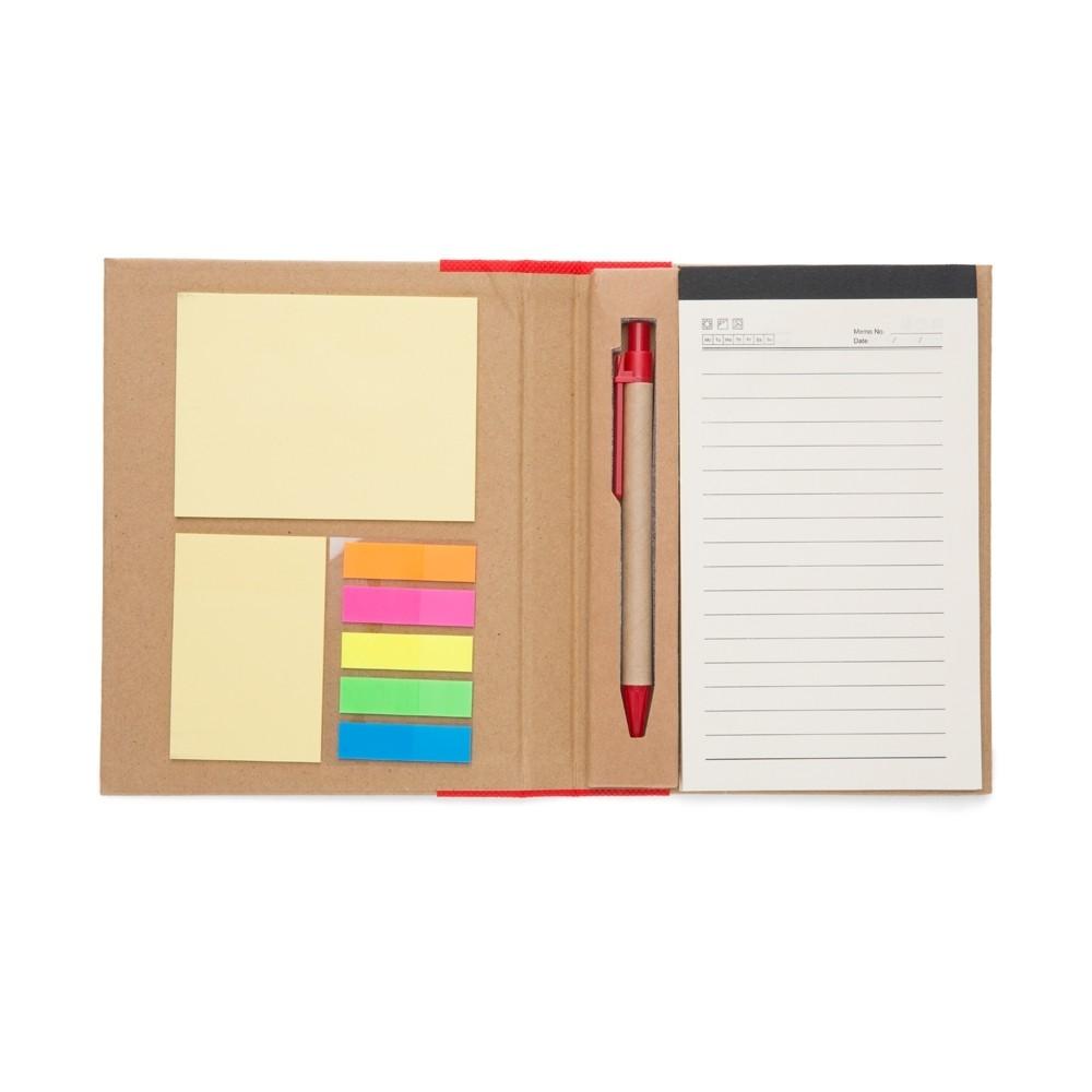 Bloco de anotações ecológico com caneta personalizado (MINIMO 30 PEÇAS)  - Premiere Brindes