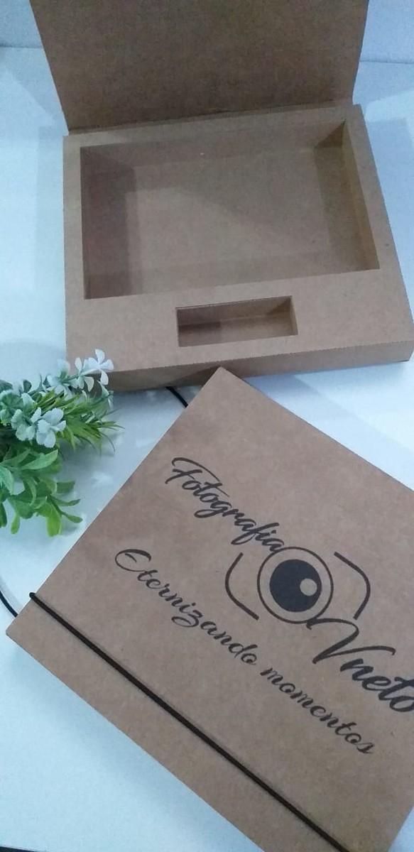 Caixa kraft pardo ou offset branco pen drive giratório e foto personalizada (MINIMO 10 PEÇAS)  - Premiere Brindes