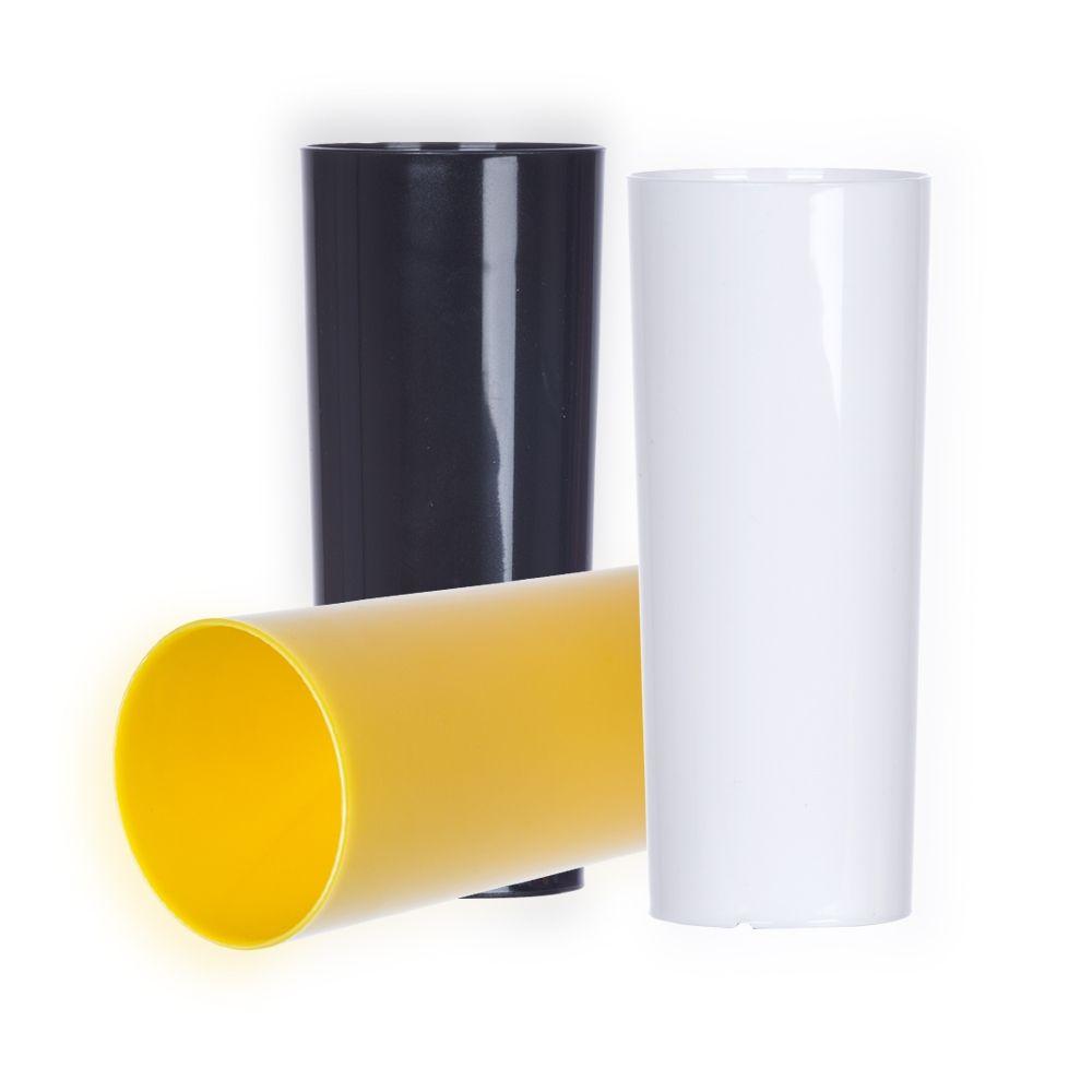 Copo long drink translúcido ou leitosa personalizado em um lado (MINIMO DE 30 PEÇAS)  - Premiere Brindes
