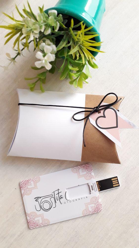 Kit pen card + Caixinha almofada personalizados (MINIMO 5 PEÇAS)  - Premiere Brindes