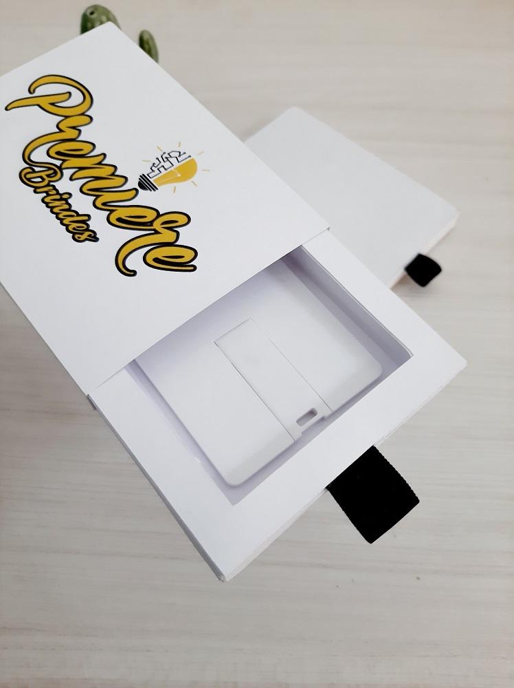 Kit pen card formato cartão + Caixinha personalizados (MINIMO 10 PEÇAS)   - Premiere Brindes